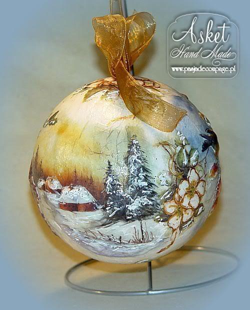 Новогодние шары с зимним пейзажем