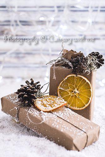 Идеи упаковок для новогодних подарков с цитрусовыми