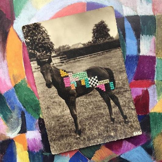 Вышивка винтажных открыток