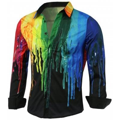 Мужские рубашки с цветными кляксами